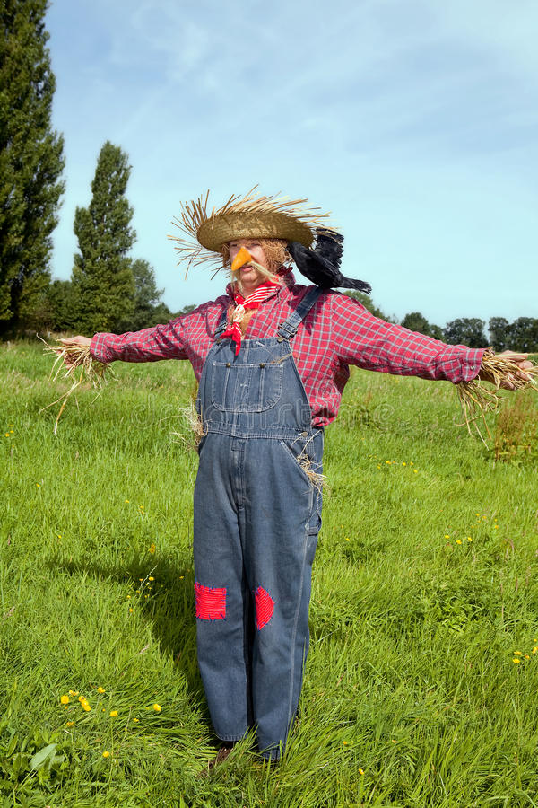Free Farmer Acting As Scarecrow Stock Images - 10327364