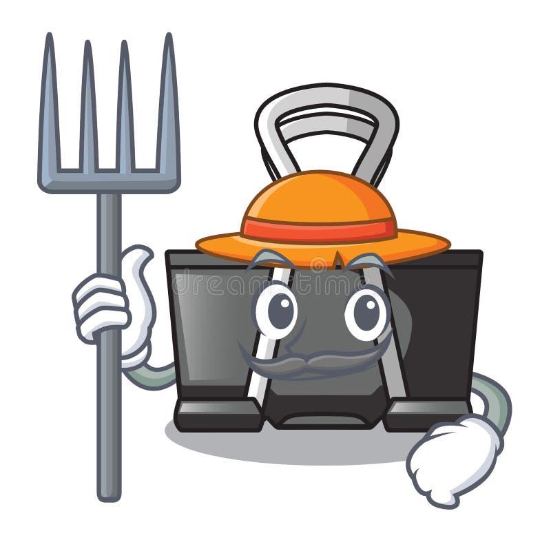 Farmer binder clip in the character shape. Vector illustration stock illustration