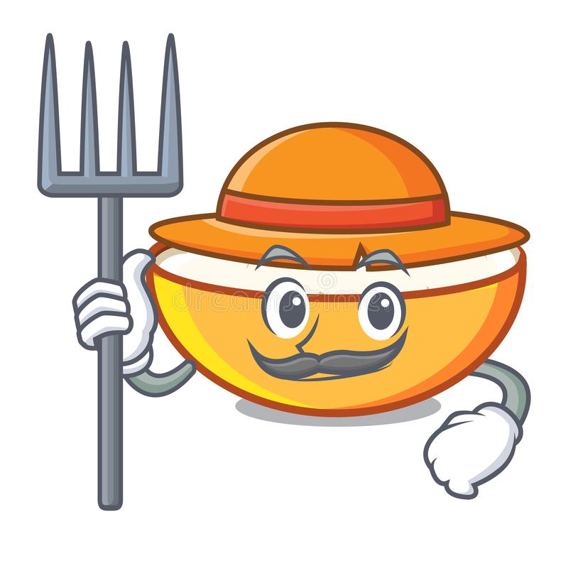 Farmer cottage cheese character cartoon. Vector illustration vector illustration