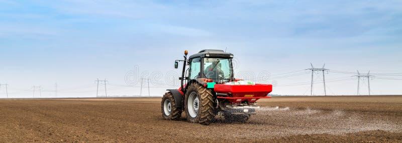 Download Farmer Fertilizing Arable Land With Nitrogen, Phosphorus, Potassium Fertilizer. Stock Image - Image of arable, synthetic: 65376693