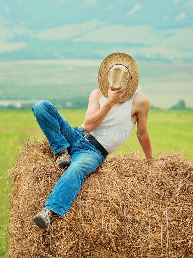 Download Farmer fooling around stock photo. Image of style, happiness - 24113268