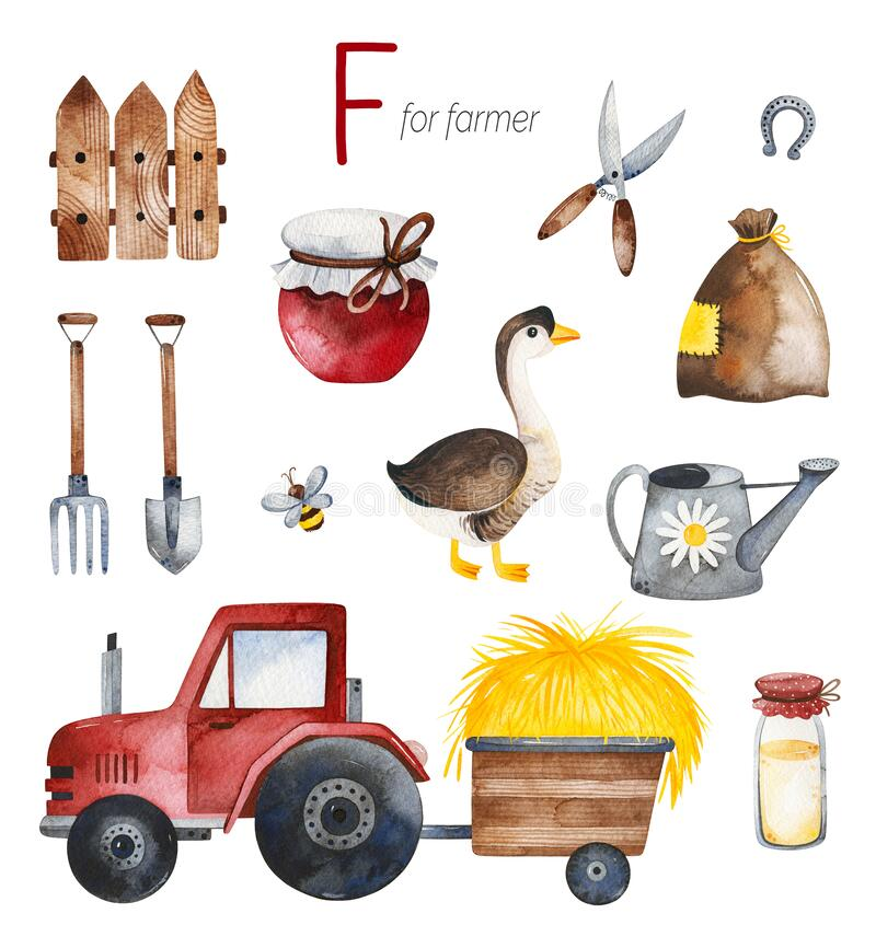 Free Farmer For F Letter. Stock Photography - 173340972
