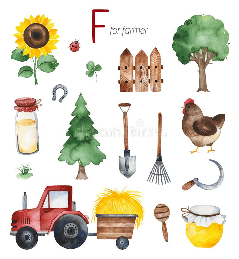 Free Farmer For F Letter Royalty Free Stock Photography - 181496097