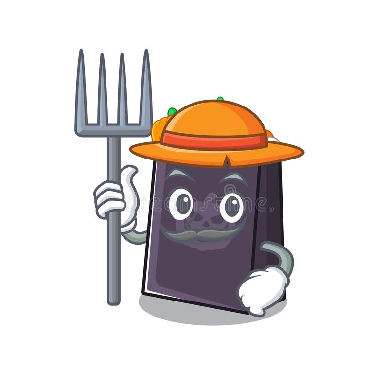 Farmer halloween bag mascot isolated with cartoon. Vector illustration vector illustration