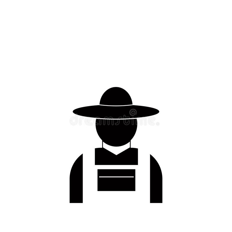 Farmer icon. Element of farm for mobile concept and web apps. Icon for website design and development, app development. Premium ic. On on white background royalty free illustration