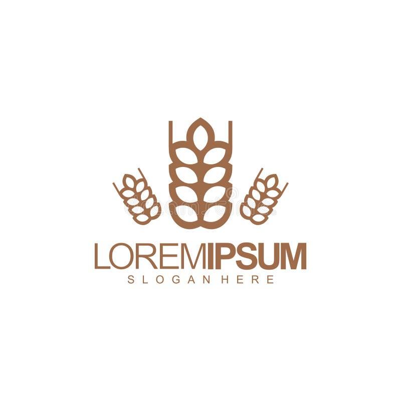 Farmer logo design vector illustration royalty free illustration