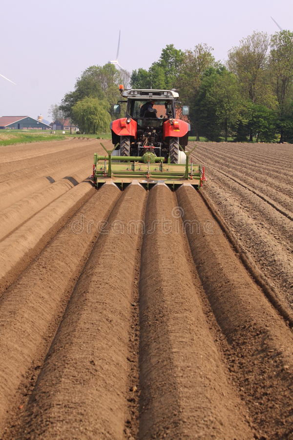 Download Farmer Plowing Land Straight Lines Editorial Image - Image: 22928560
