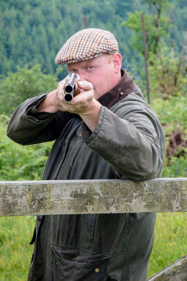 West country farmer with a shotgun stock photos