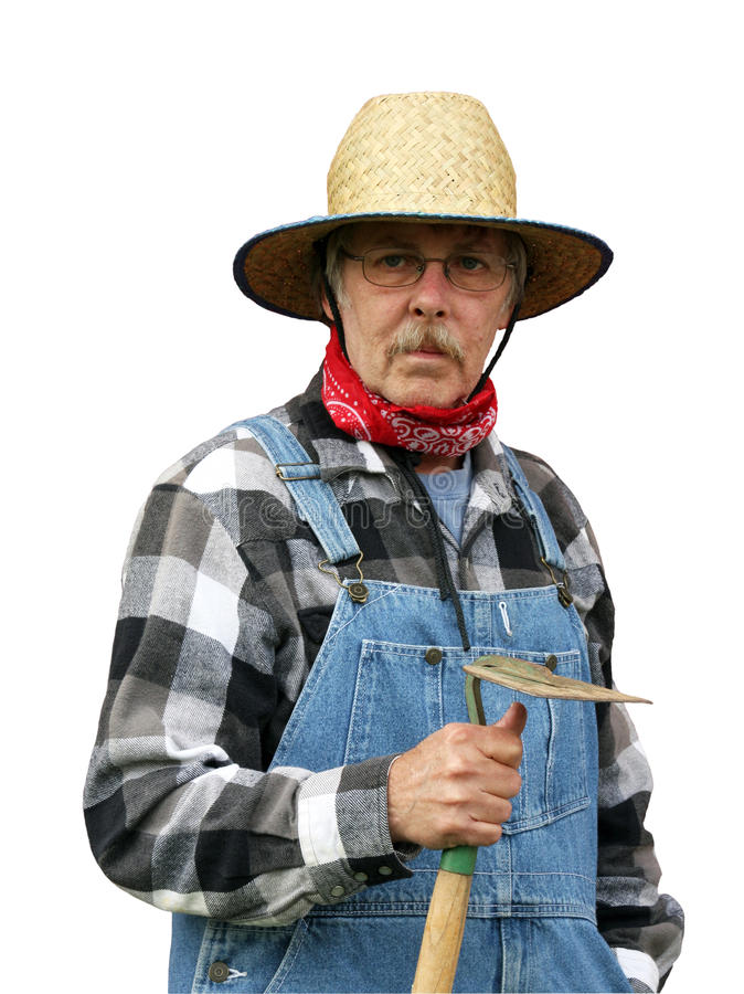 Farmer Portrait Isolated With Path Royalty Free Stock Photo