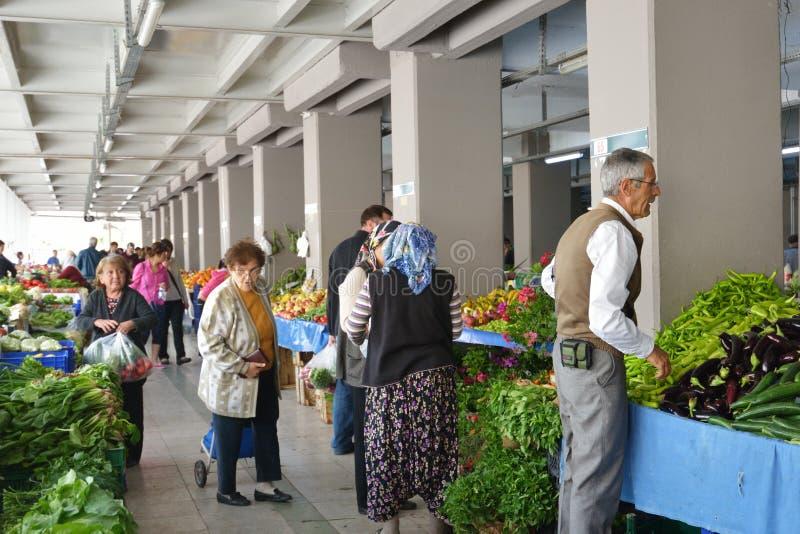 Farmer's market in Marmaris, Turkey royalty free stock image