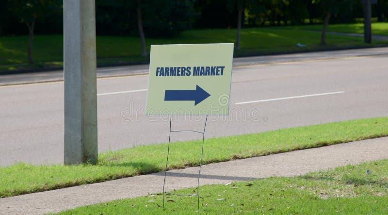 Farmer's Market Sign royalty free stock photo