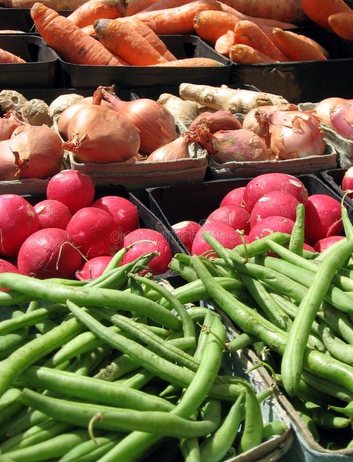 Farmer's Market Veggies stock photography