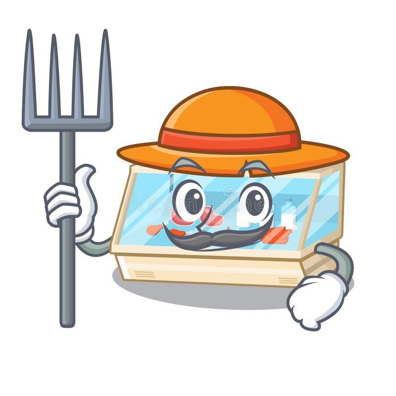Farmer trade counter in the mascot shape. Vector illustration vector illustration