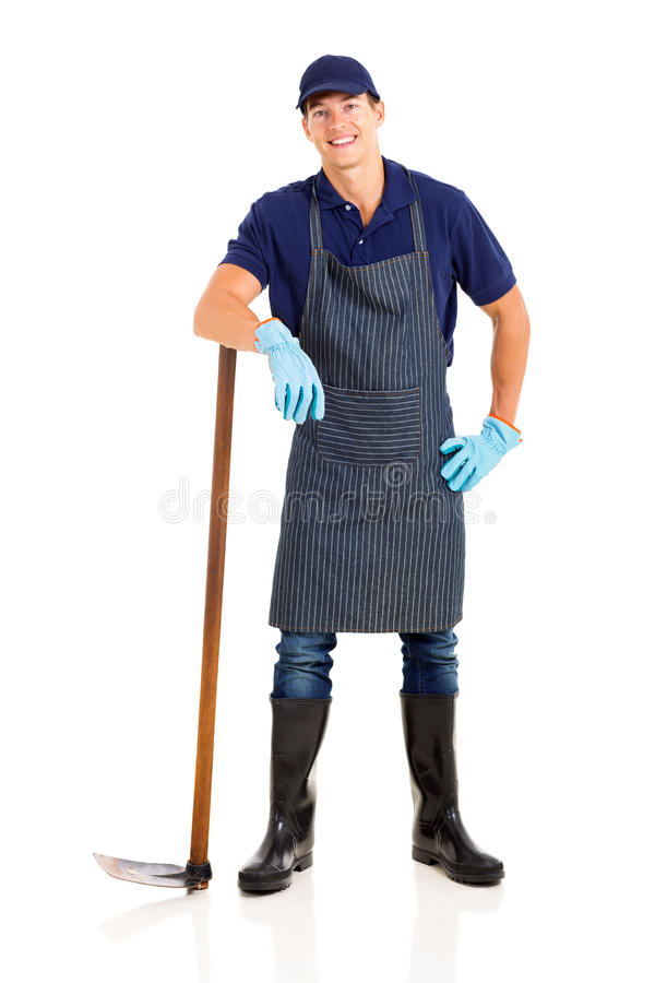 Free Farmer With Hoe Stock Photo - 40465320