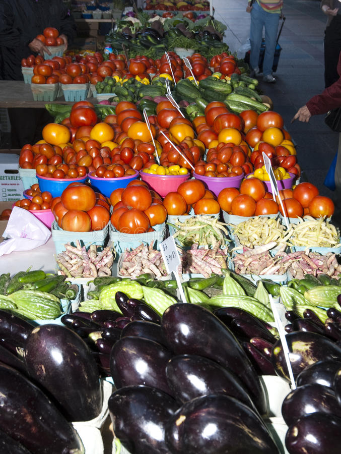 Farmers Market. Fresh vegetables at a farmers market in Minneapolis stock photography