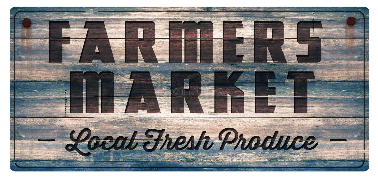 Farmers market fresh produce sign. Farmers Market Fresh Produce Wood Sign Vintage Antique Rustic Carved Food Local stock illustration