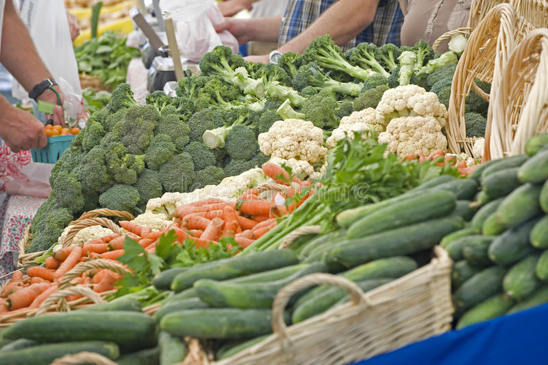 Farmers Market fresh vegtables royalty free stock photos