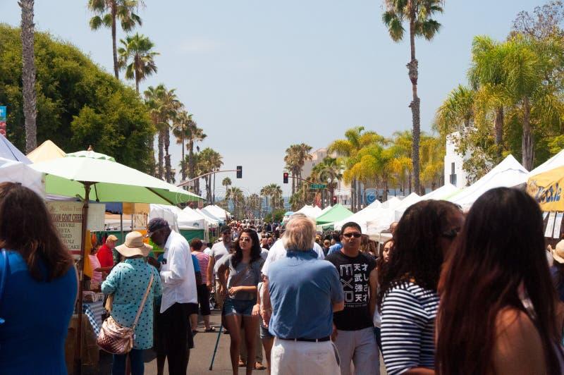 Farmers Market in Oceanside, California stock photography