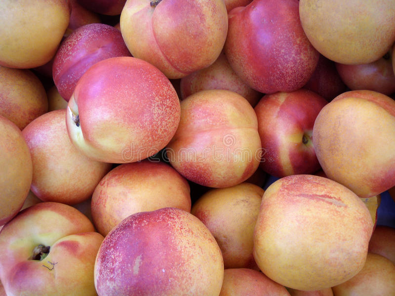 Farmers Market peach fruit royalty free stock images