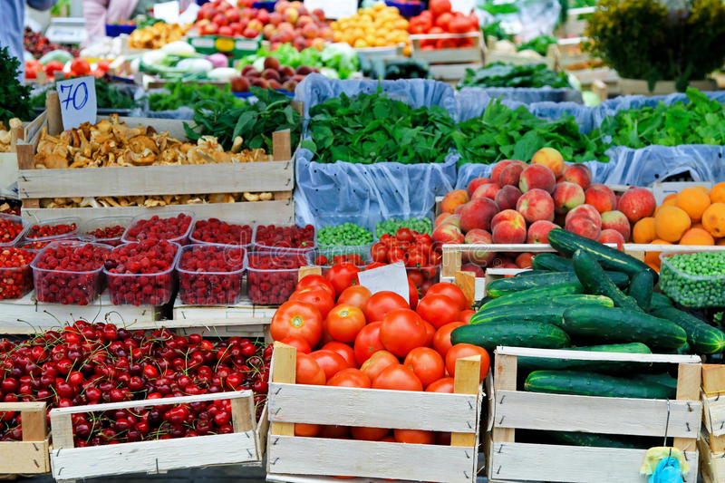 Farmers market place stock image