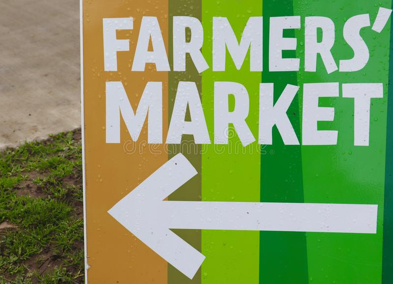 Farmers Market Sign stock image