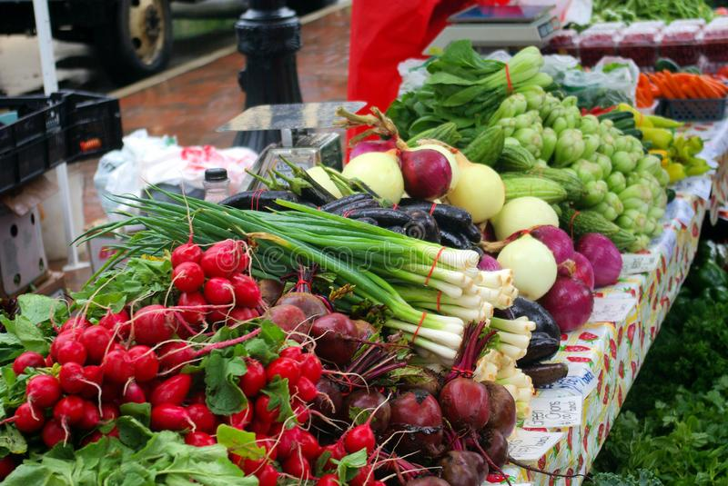 Farmers' Market, at the Wisconsin State Capitol, Madison, Wisconsin, September 13, 2008 stock photography