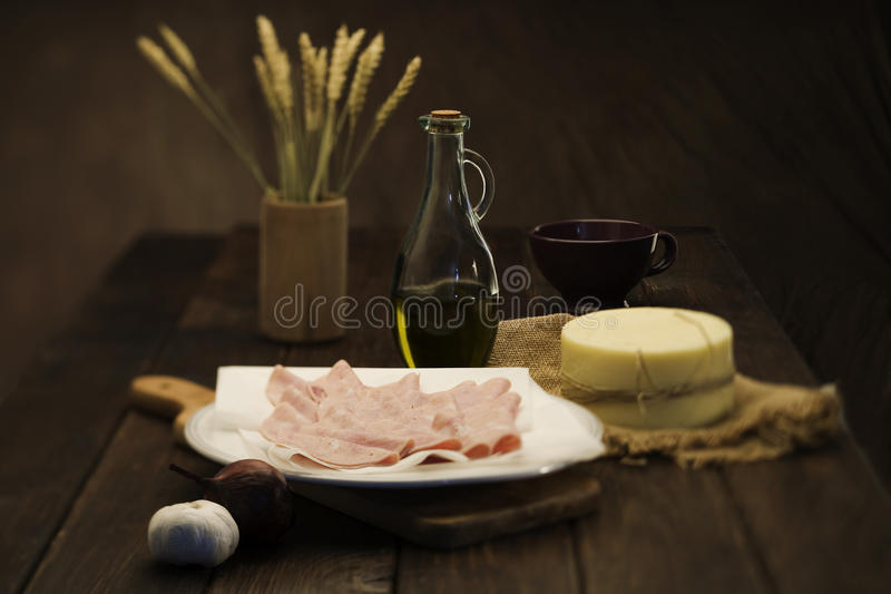 Farmers meal stock photography
