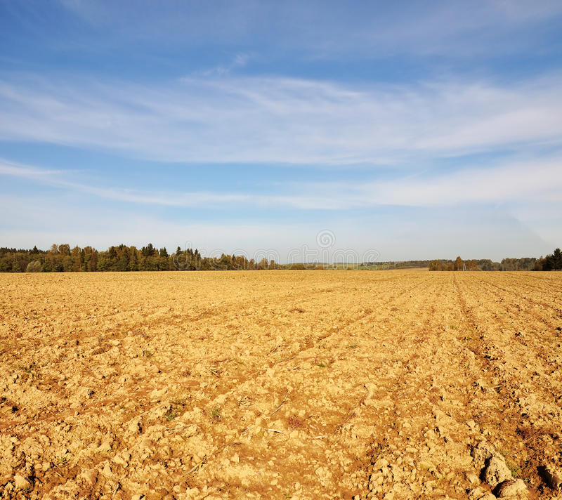 Farmfield en otoño imágenes de archivo libres de regalías