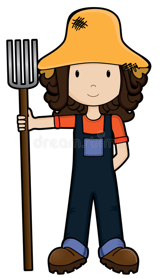 Free FarmGirl -Vector Royalty Free Stock Images - 5998779