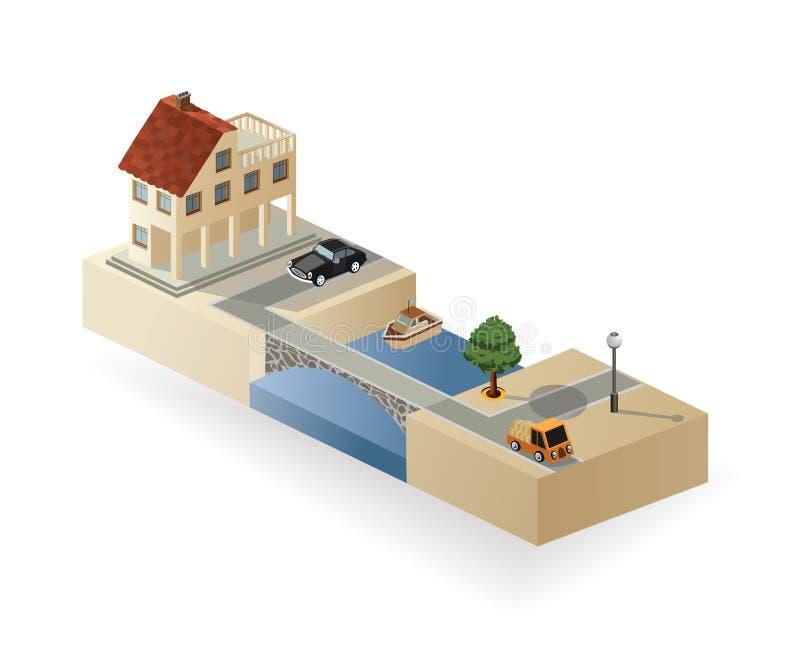 Farmhouse διανυσματική απεικόνιση