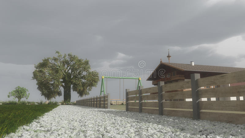 Download Farmhouse In Bad Weather Stock Photos - Image: 33925483