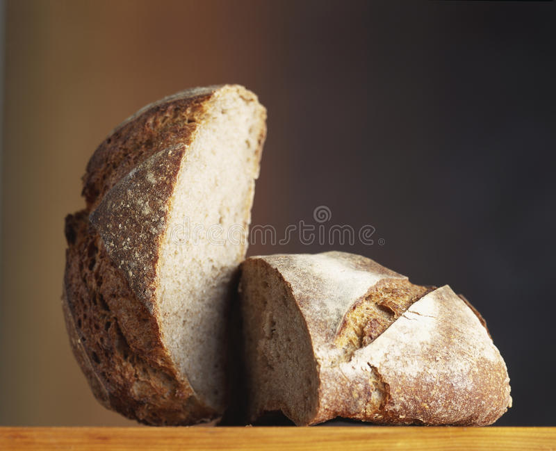 Download Farmhouse loaf cut in two stock photo. Image of color - 23705218