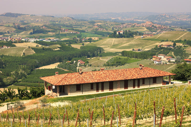 Download Farmhouse Over The Hills Of Piedmont. Stock Photography - Image: 19625102