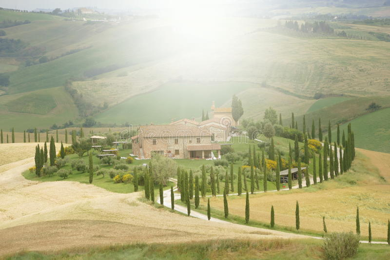 farmhouse tuscan στοκ εικόνα
