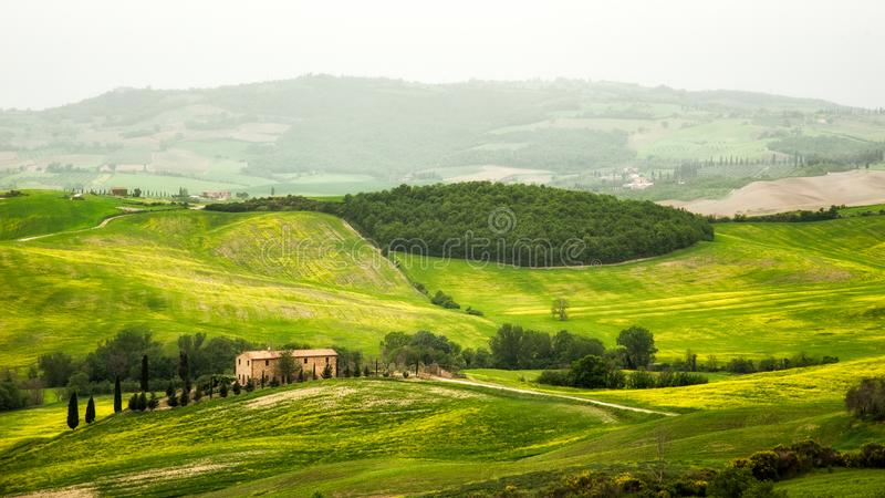 Tuscany - Italy landscape in spring stock photos