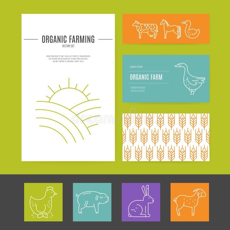 Farming Business Identity stock vector. Illustration of chicken ...