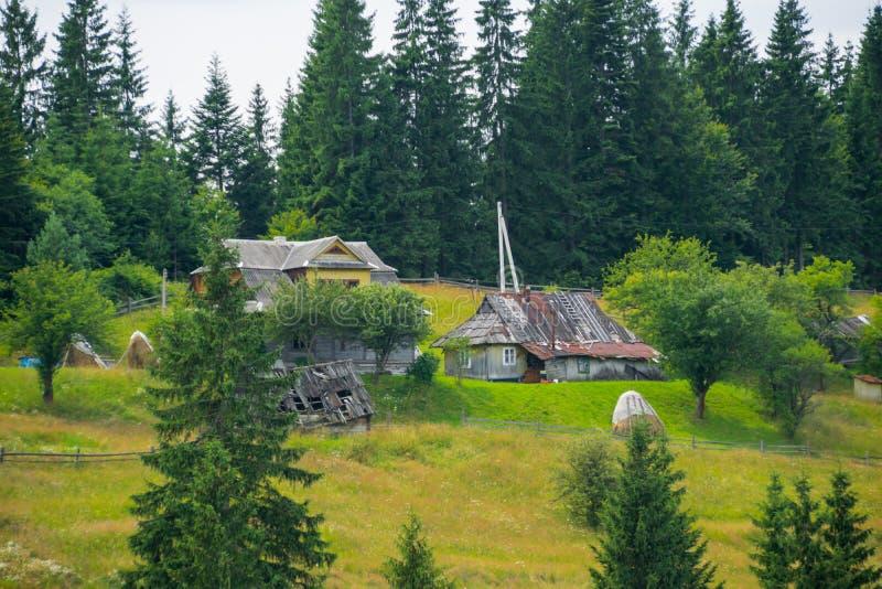 Farming in Carpathian Mountains stock images
