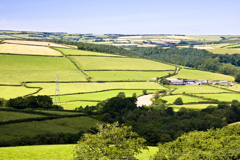 Download Farming countryside stock image. Image of woodland, hills - 7804975