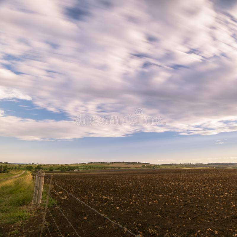 Farming field in Toowoomba, Australia. During the daytime stock image