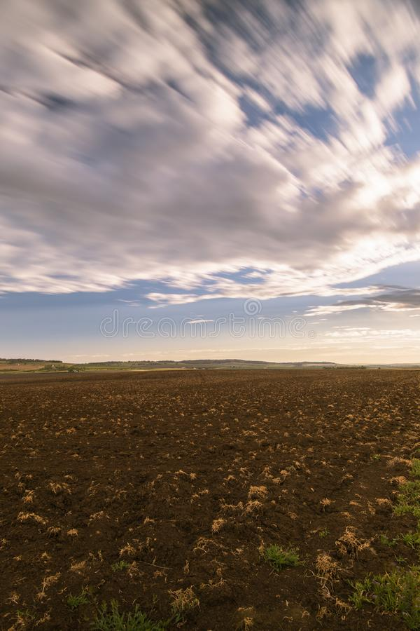 Farming field in Toowoomba, Australia. During the daytime stock photography