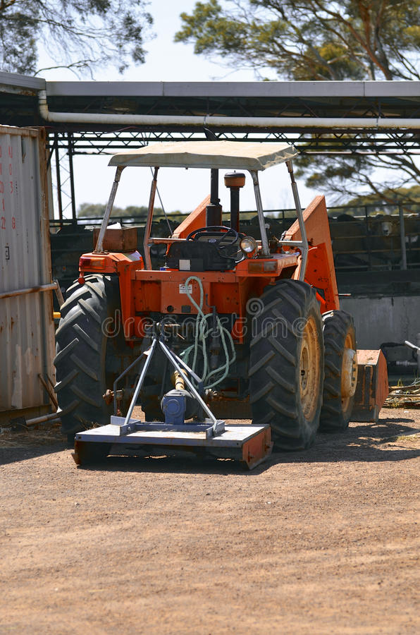 Farming front end loader tractor. In Australia stock image
