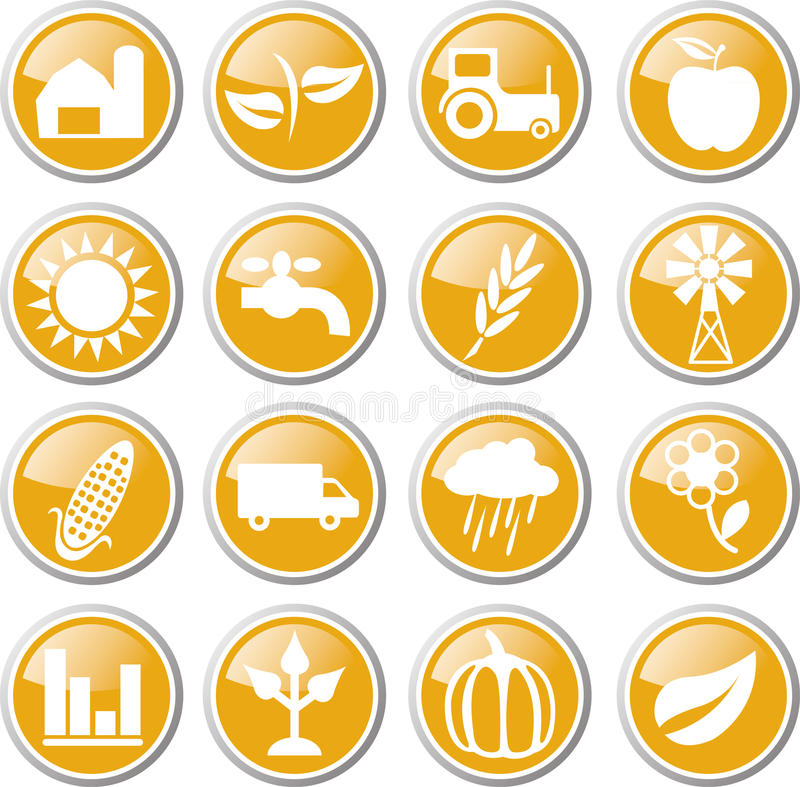 Download Farming icon set stock vector. Image of autumn, fruit - 33458042
