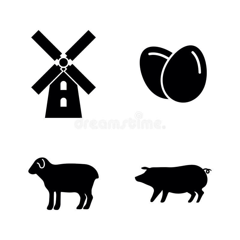 farming Iconos relacionados simples del vector ilustración del vector