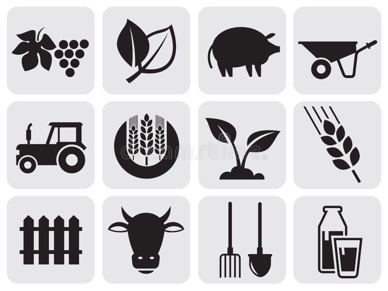 Download Farming icons. stock vector. Illustration of bull, shovel - 25517698