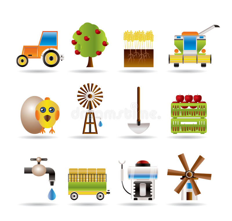 Download Farming Industry And Farming Tools Icons Stock Vector - Image: 15777706