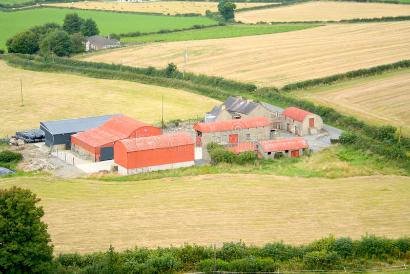 Farming Ireland royalty free stock image