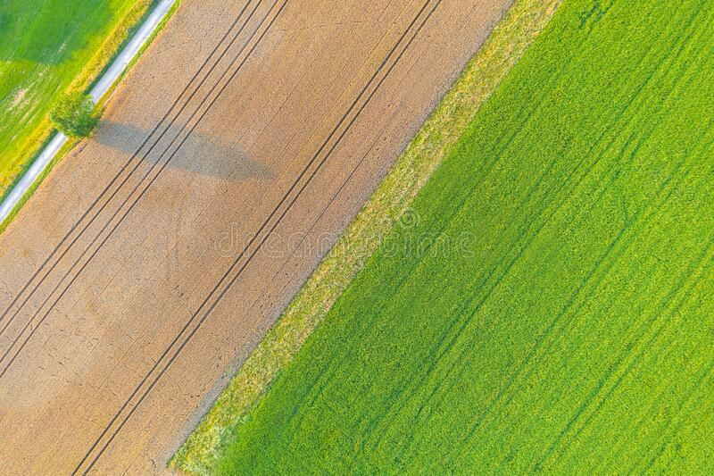 Farming landscape from above stock images