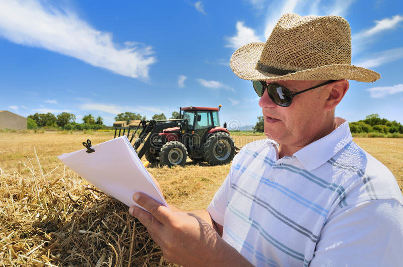 Farming Paperwork royalty free stock images