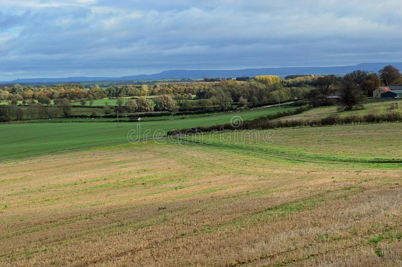 English countryside Wensleydale Yorkshire UK. Farming and rural views in english countryside with North Yorkshire Moors fell in the background. situated near stock photos