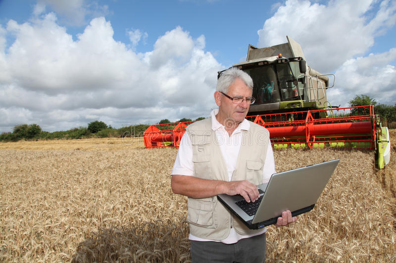 Farming and technology royalty free stock photography